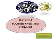 POLYMER CHEMISTRY -LEC4 ,.. classifc..Contd