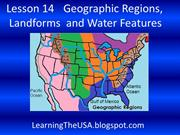 Lesson 14 Geographic Regions and Landforms