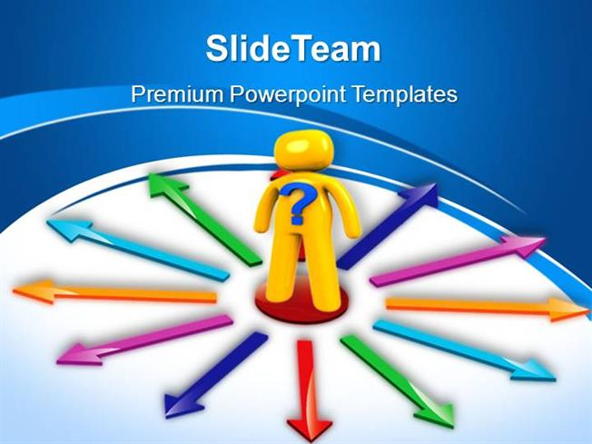 Business Flow Charts Powerpoint Templates Choices Arrows Ppt Slide