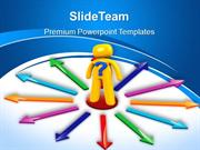 business flow charts powerpoint templates choices arrows ppt slides