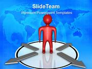 business presentations person with choice arrows teamwork ppt slides P