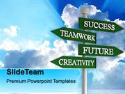 business process presentation visio signpost metaphor success ppt desi