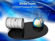 Oil Drum Earth Energy Environment PowerPoint Templates PPT Themes And
