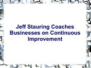 Jeff Stauring Coaches Businesses on Continuous Improvement