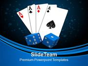 Playing Card With Dices Game Entertainment PowerPoint Templates PPT Th