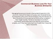 Commercial Business Loan For Your Business Enterprise