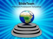 World Globes On A Pedestals Globe PowerPoint Templates PPT Themes And