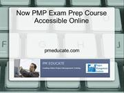 Now PMP Exam Prep Course Accessible Online