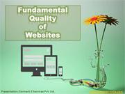 Top 20 Things To Know About Quality of Website !