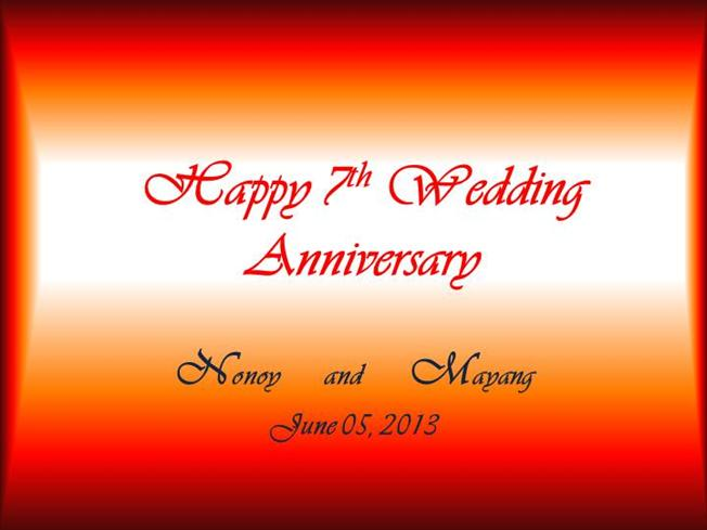 7th Wedding Anniversary.Happy 7th Wedding Anniversary Authorstream