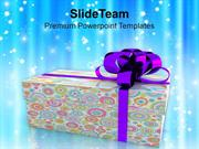Colorful Gift Box Christmas Celebration PowerPoint Templates PPT Theme