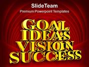 Golden Goal Ideas Vision Success PowerPoint Templates PPT Themes And G