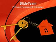 House Locked With Key Security PowerPoint Templates PPT Themes And Gra