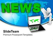 Latest News On Laptop Communication PowerPoint Templates PPT Themes An