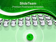 Leadership Concept With Silver Spheres PowerPoint Templates PPT Themes