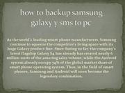 how to backup samsung galaxy y sms to pc