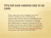 Tips for save android sms to sd card