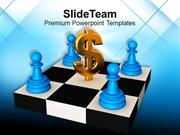 Chess Mates On Board With Dollar PowerPoint Templates PPT Themes And G