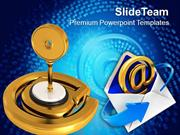 Golden Key Email Folder Security PowerPoint Templates PPT Themes And G