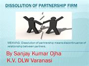 DISSOLUTION OF PARTNERSHIP FIRM
