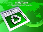 Recycled Symbol Environment Energy Wastage PowerPoint Templates PPT Th