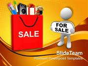 Shopping Red Bag Carry Sale Abstract Shopping PowerPoint Templates PPT