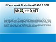 Difference and similarities of SEO & SEM