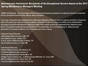 NationaLease Announces Recipients of the Exceptional Service Award