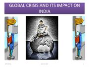 GLOBAL CRISIS AND ITS IMPACT ON INDIA