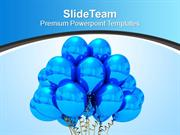 Blue Helium Balloons Ready To Fly Celebration PowerPoint Templates PPT