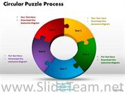 Donut Shaped Business Circular Puzzle Diagram