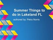 Summer Things to do in Lakeland FL