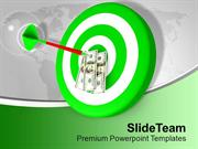 Dart Hitting Target Dollar Bullseye Arrow PowerPoint Templates PPT The