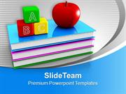 Abc Blocks On Books Apple Future PowerPoint Templates PPT Themes And G