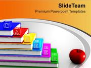 Alphabet Career Blocks With Apple Food PowerPoint Templates PPT Themes