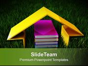 Book And Imaginary House Future PowerPoint Templates PPT Themes And Gr