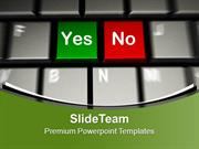 Computer Keyboard With Yes No Keys PowerPoint Templates PPT Themes And