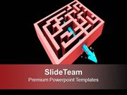 Arrow Breaking Through The Maze Target PowerPoint Templates PPT Themes