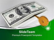 Dollar Bills With Golden Key Future PowerPoint Templates PPT Themes An