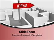 Ideas On Signboard With Complex Path PowerPoint Templates PPT Themes A