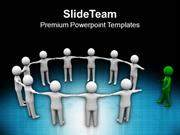 3d Man Joining Team Leadership PowerPoint Templates PPT Themes And Gra