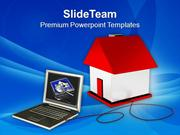 Browsing Through Internet Real Estate PowerPoint Templates PPT Themes