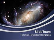 Illustration Of Spiral Galaxy PowerPoint Templates PPT Themes And Grap