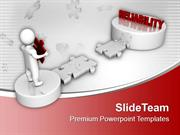 3d Man And Puzzle With Reliability PowerPoint Templates PPT Themes And