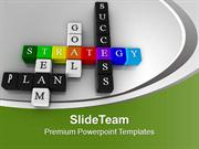 Colorful Crossword Strategy Goal Success PowerPoint Templates PPT Them