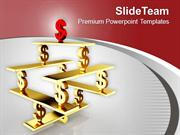 Dollar Symbols On See Saw Balance PowerPoint Templates PPT Themes And