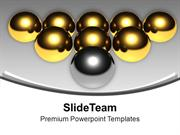 Golden Balls With Silver Balls Arrow PowerPoint Templates PPT Themes A