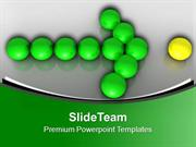 Green Christmas Balls Pointing Yellow Ball PowerPoint Templates PPT Th