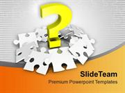 Question Mark With Silver Puzzles PowerPoint Templates PPT Themes And