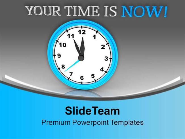 Wall clock showing your time is now powerpoint templates ppt theme wall clock showing your time is now powerpoint templates ppt theme authorstream toneelgroepblik Image collections